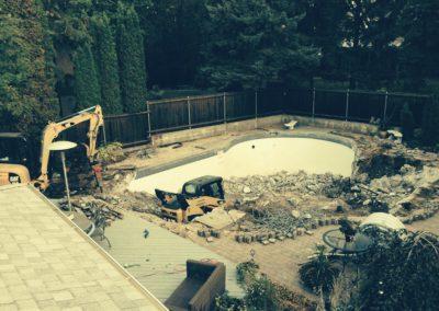Backyard pool removal