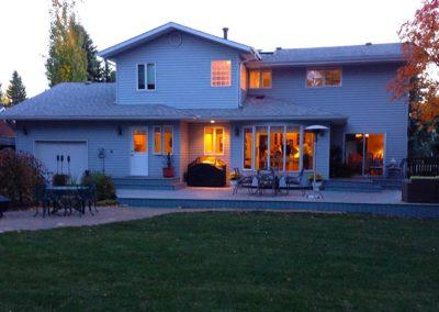 Finished backyard